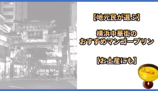 【地元民が選ぶ】横浜中華街のおすすめマンゴープリン【お土産にも】